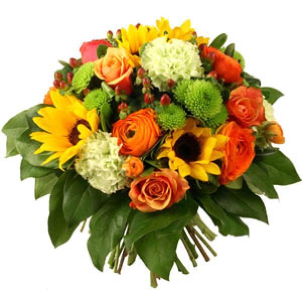 bouquet rond (divers couleurs et fleurs)<br /> a partir de 45.-