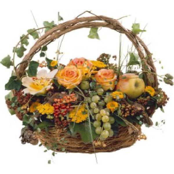 corbeille fleurie (divers couleurs et fleurs)<br /> a partir de 50.-